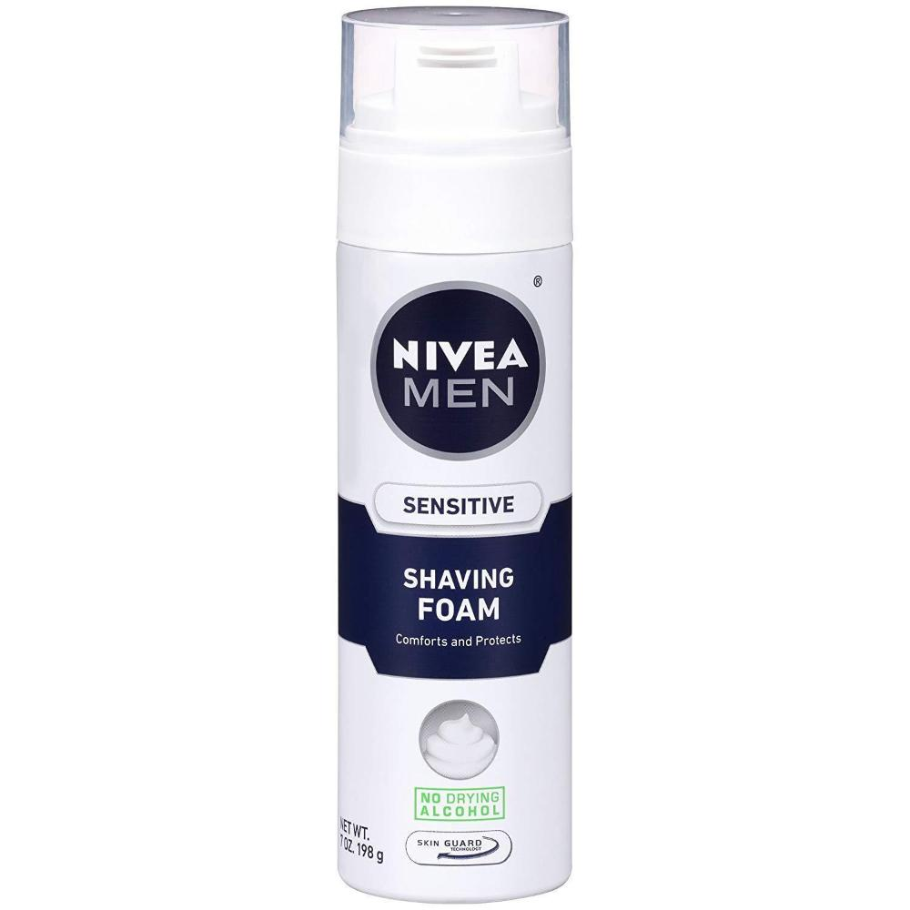 NIVEA Men Sensitive Shaving Foam 7 Ounce (NO LID)
