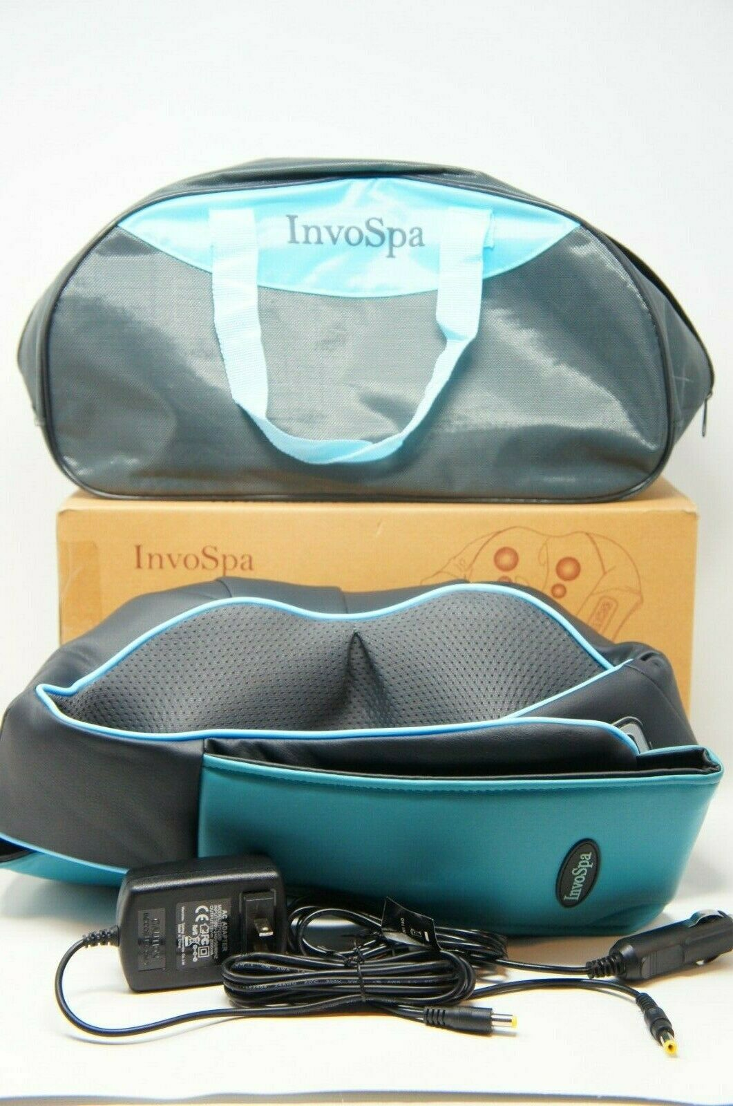 InvoSpa Shiatsu Back Neck and Shoulder Massager with Heat Deep Tissue 3D