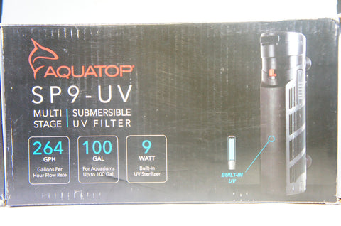 AQUATOP AQUATIC SUPPLIES 003560 Multi Stage Submersible UV Filter Black (Like New)
