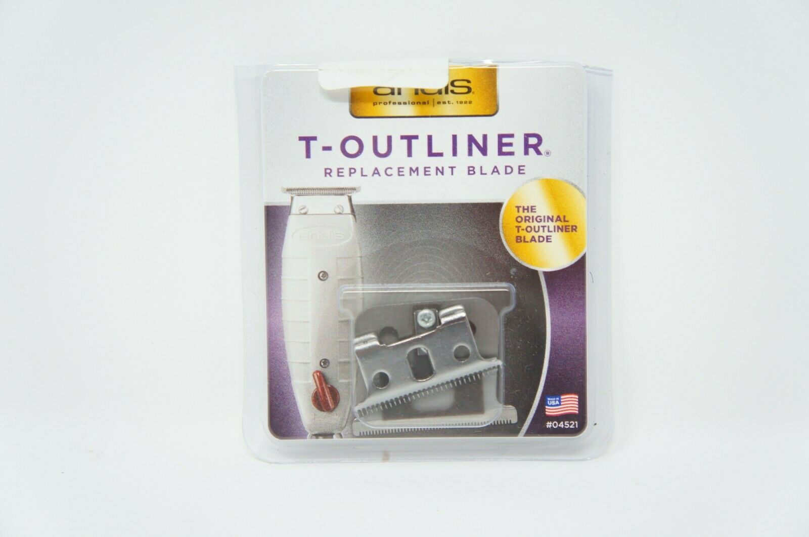 Andis T-Outliner Replacement Beard/Hair Trimmer Blade Silver 04521