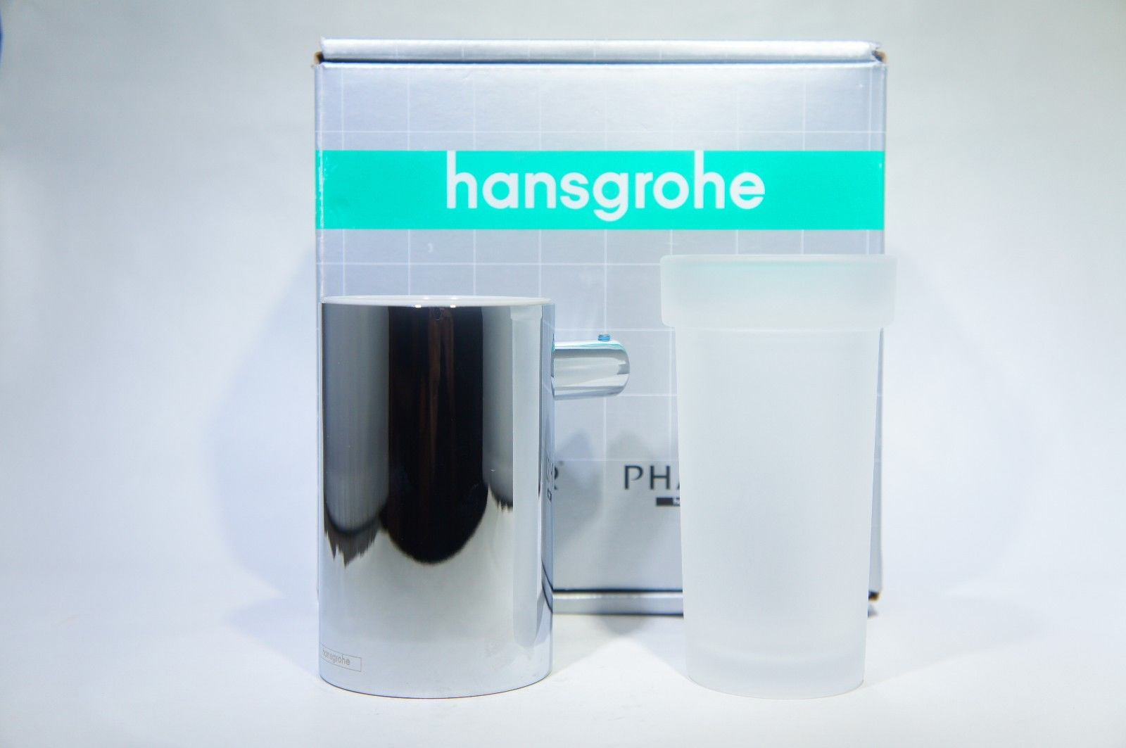 Hansgrohe 40518 E and S Accessories Toothbrush Holder with Frosted Glass