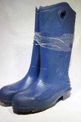 "UltraSource PVC Boots, 15"", Blue Steel Toe, Size 8, 440037-8"