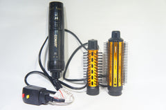 "Conair CD160AM Hot Air Curling Brush Combo 1""-1.5"" Black and Gold"