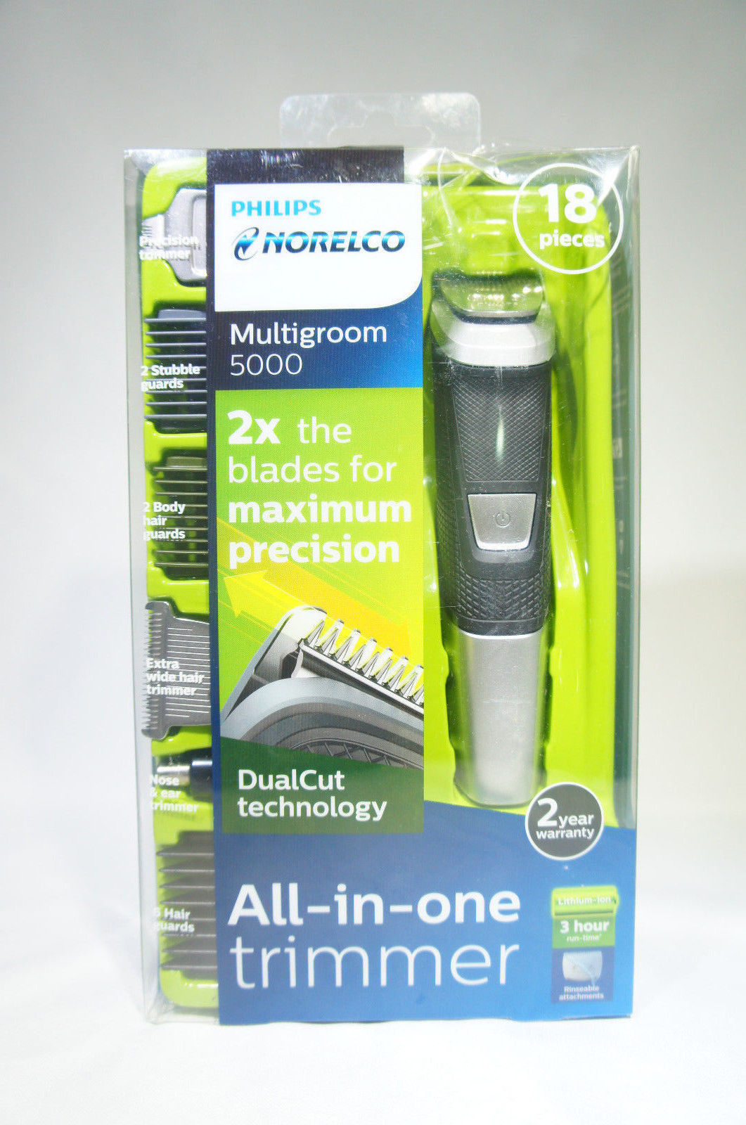 Philips NORELCO MG5750/49 Multigroom 5000 Trimmer 18 Pieces