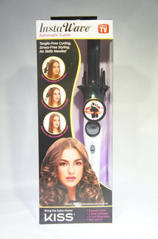 "Kiss products KACI01 Ceramic Instawave 1"" Automatic Curling Iron"