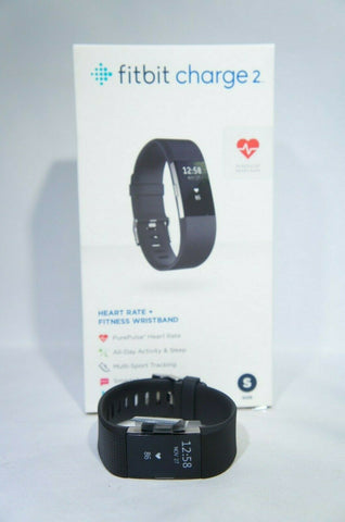 Fitbit Charge 2 Heart Rate Monitor Fitness Tracker Wristband Black (Like New)
