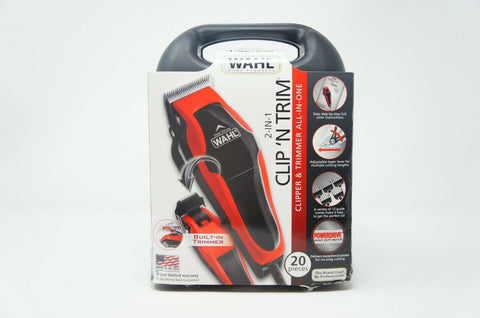 Wahl 79900-1501 Hair Cutting Clipper/Trimmer 2 In 1 Kit with Self Sharpening