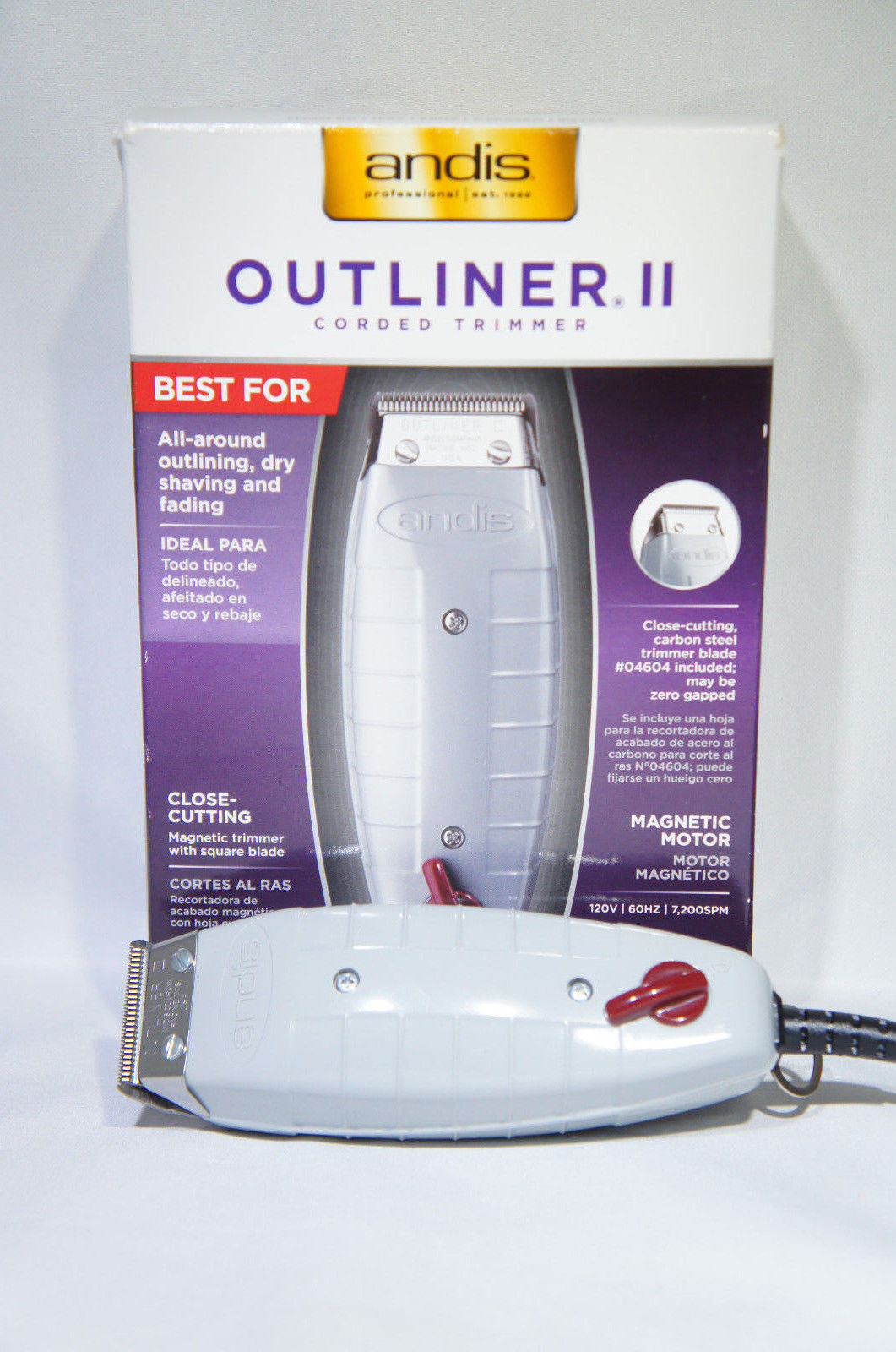 Andis 04603 Go Professional Outliner II Square Blade Trimmer (Like New)