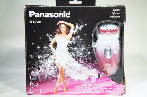 Panasonic ES-ED90-P Wet/Dry Epilator Shaver With Six Shave Attachments (Like New)