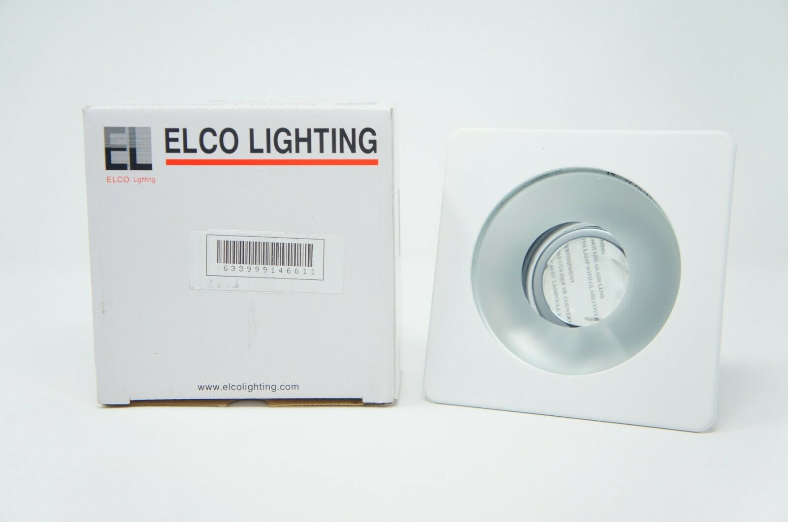 "Elco Lighting EL2415W 4"" Low Voltage Square Adjustable Shower Trim"