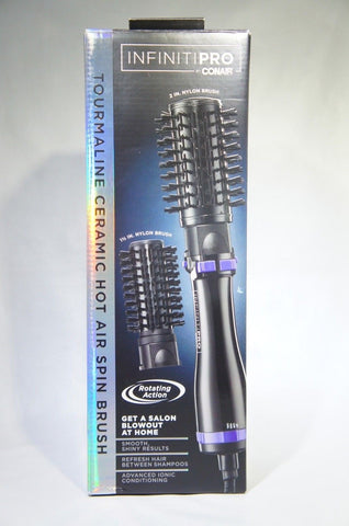 INFINITIPRO CONAIR BC191N Hot Air Spin Brush 2'' and 1 1/2'' (Like New)