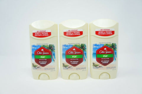 Old Spice Fresh Collection Stick Deodorant FIJI 3 PK 2.6 oz. EACH