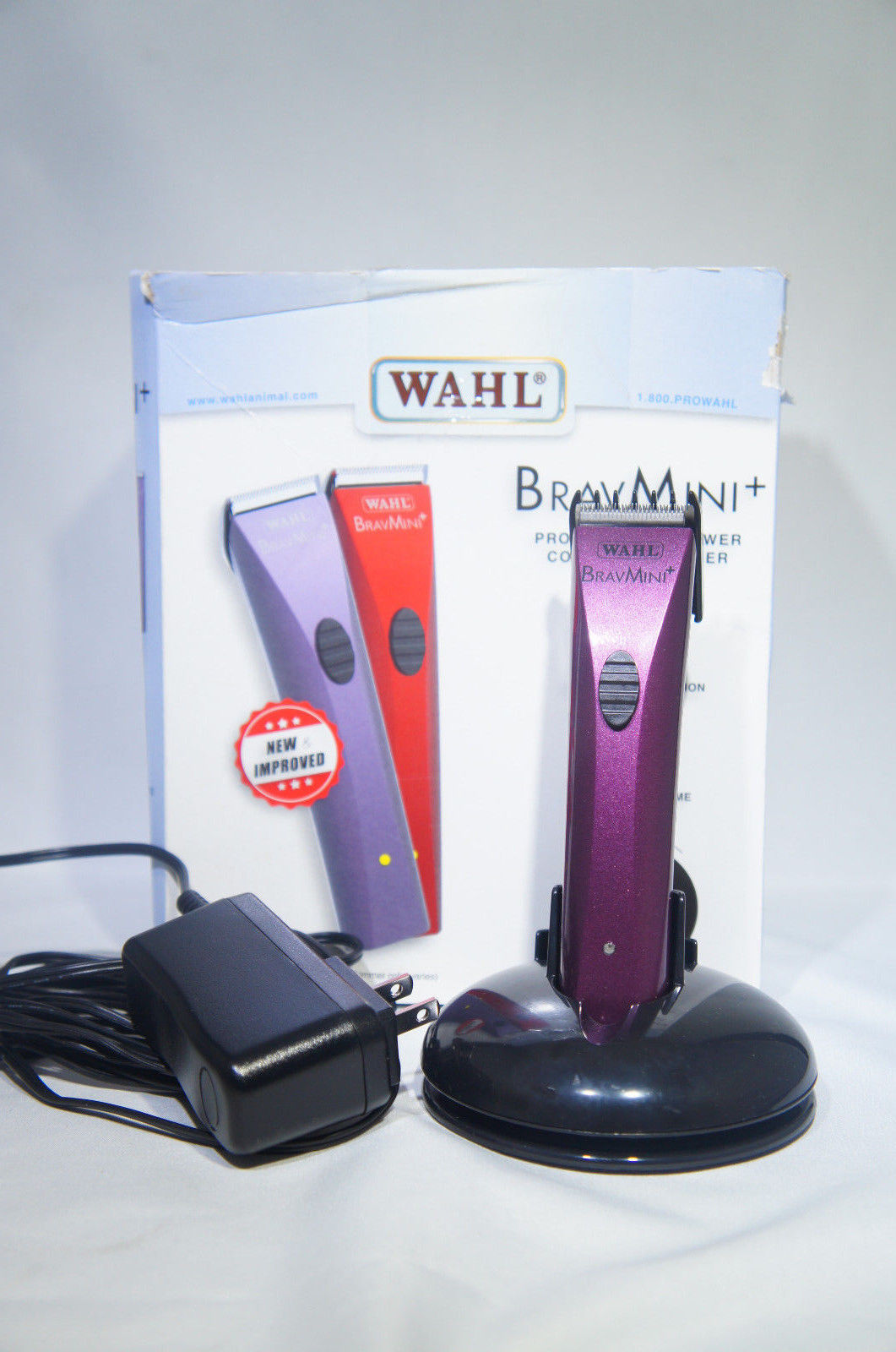 Wahl 41590-0438 Professional Animal BravMini+ Cordless Pet Trimmer (Like New)