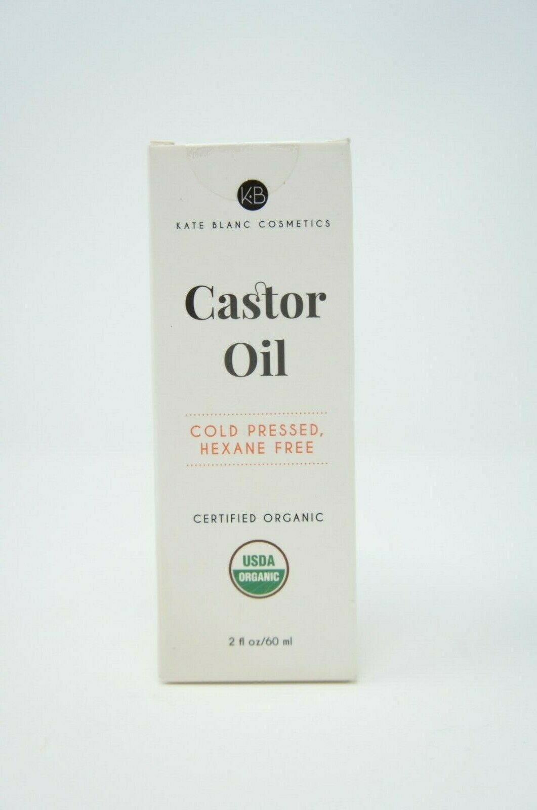 Castor Oil 2oz USDA Certified Organic 100% Pure Cold Pressed Hexane Free