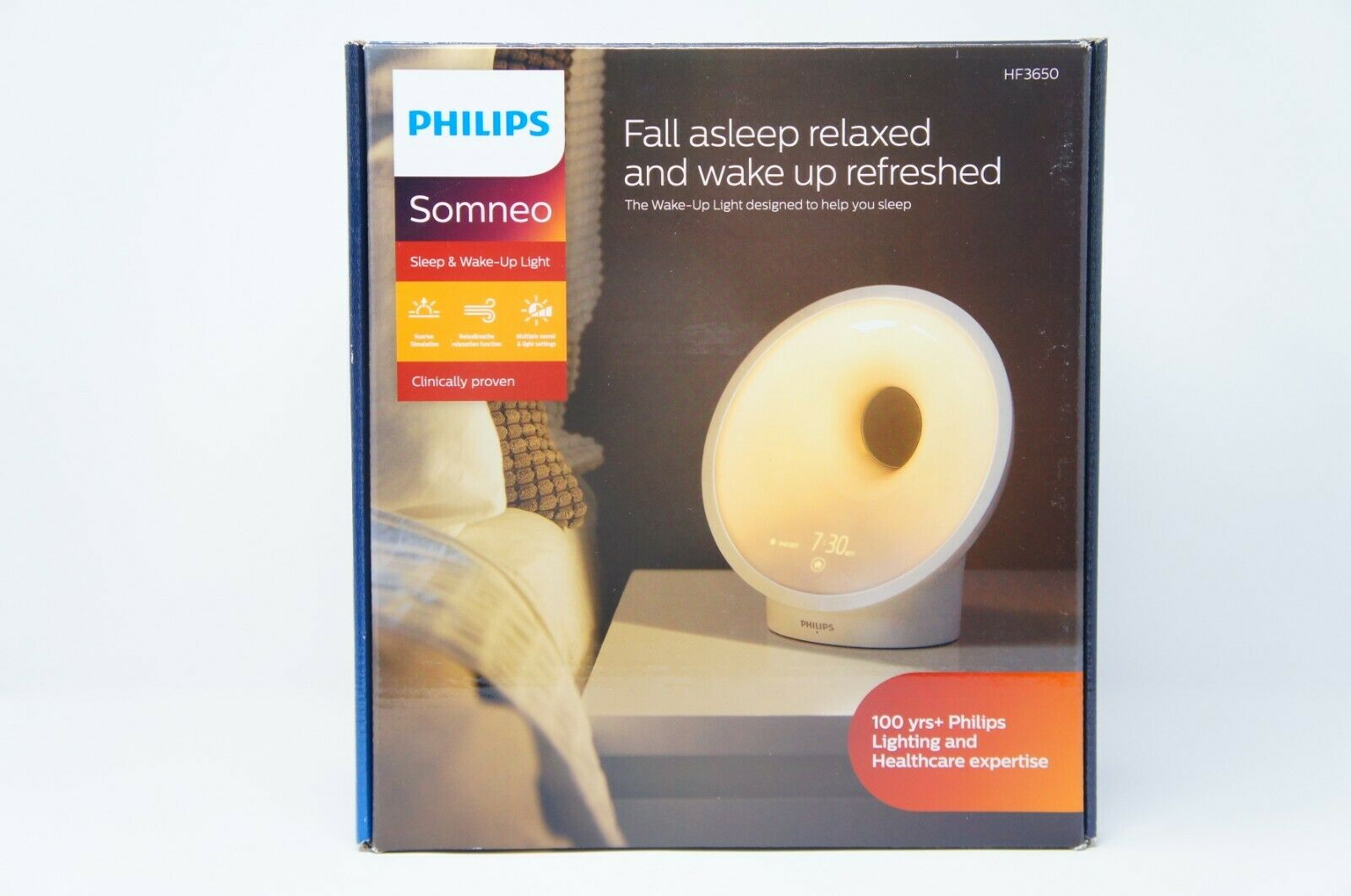 Philips HF3650/60 Sleep and Wake-up Light Therapy Lamp