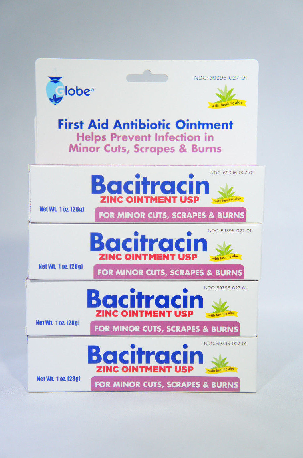 Bacitracin Zinc Ointment 1 Oz / 28 G (Pack of 4) EXP: 11/20