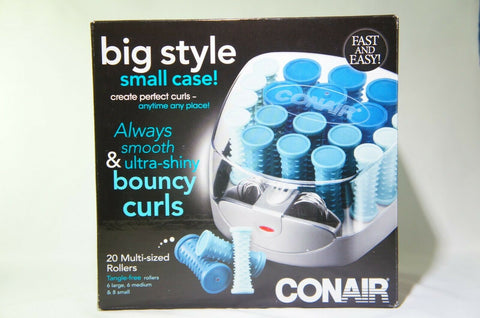 Conair Compact Multi-Size Hot Rollers; Blue HS34X
