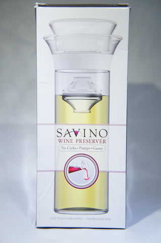 Savino Wine Saving Carafe Glass 750ml