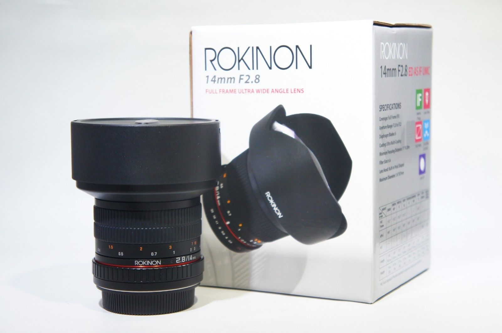 Rokinon FE14M-C 14mm F2.8 Super Wide Angle Lens for Canon EOS Digital SLR