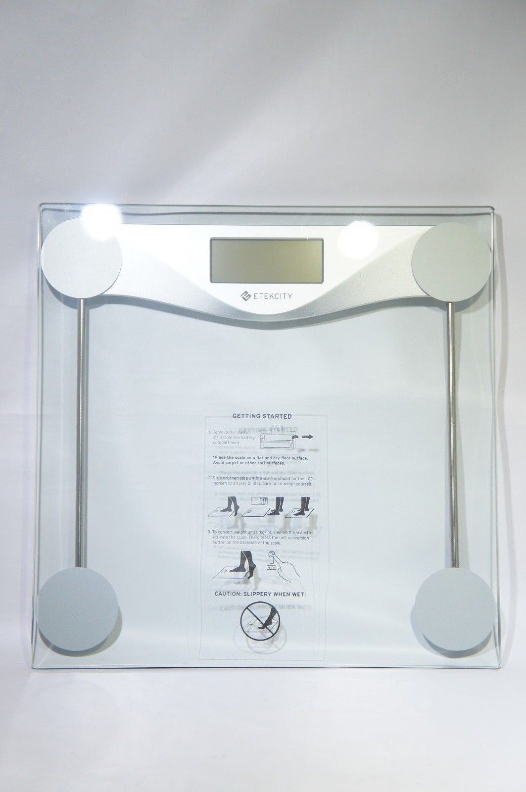 Etekcity EB4074C Digital Bathroom Body Weight Scale, Tempered glass