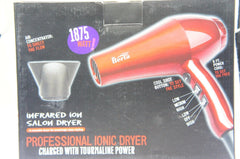 Berta 1875 Watt Ceramic Blow Hair Dryer 2 Speed Red
