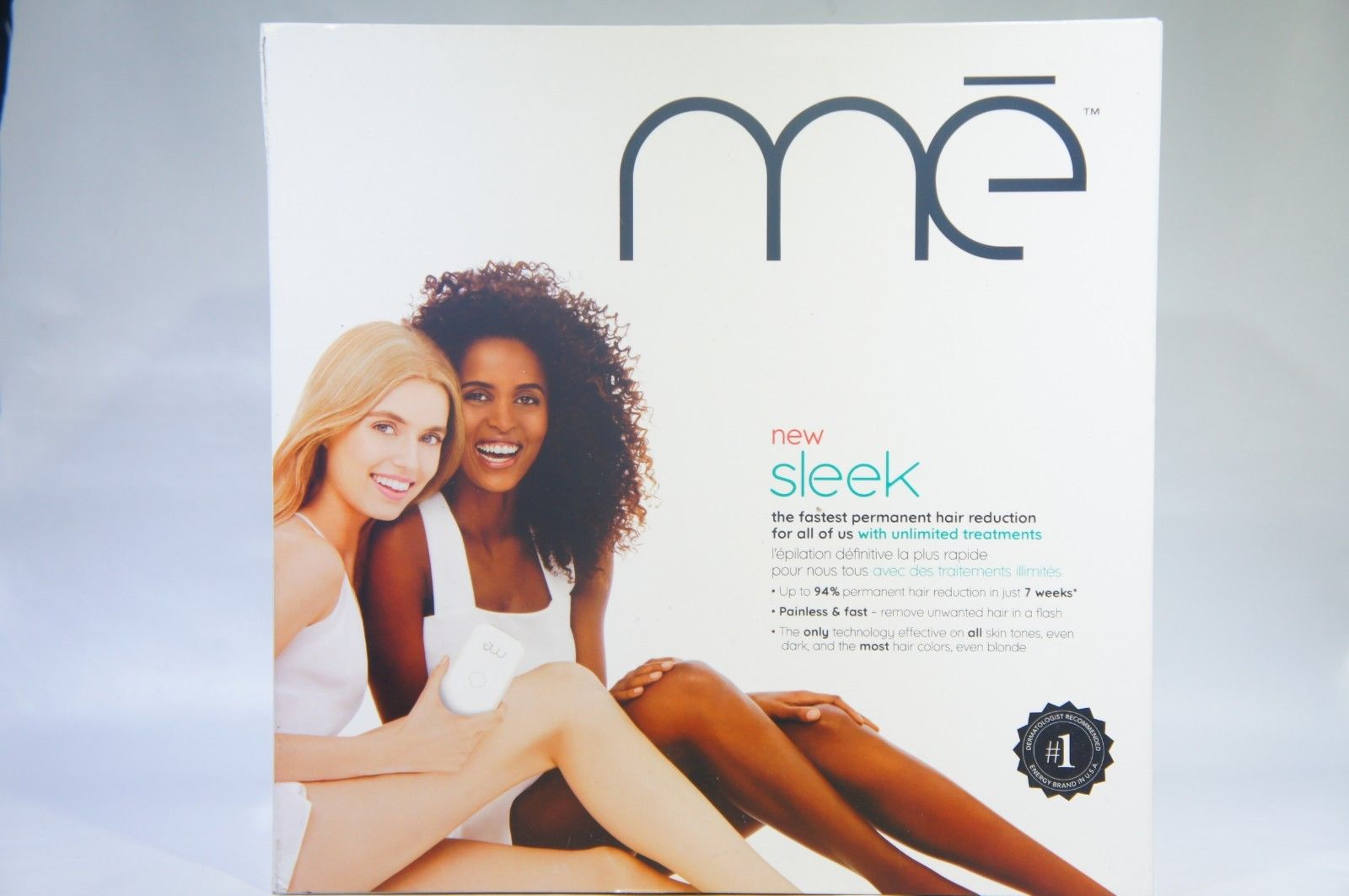 mē Sleek Permanent Hair Reduction Device with FDA Cleared Elos Technology for Men or Women (Like New)