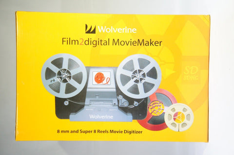 "Wolverine 8mm and Super8 Reels Movie Digitizer with 2.4"" LCD Black"