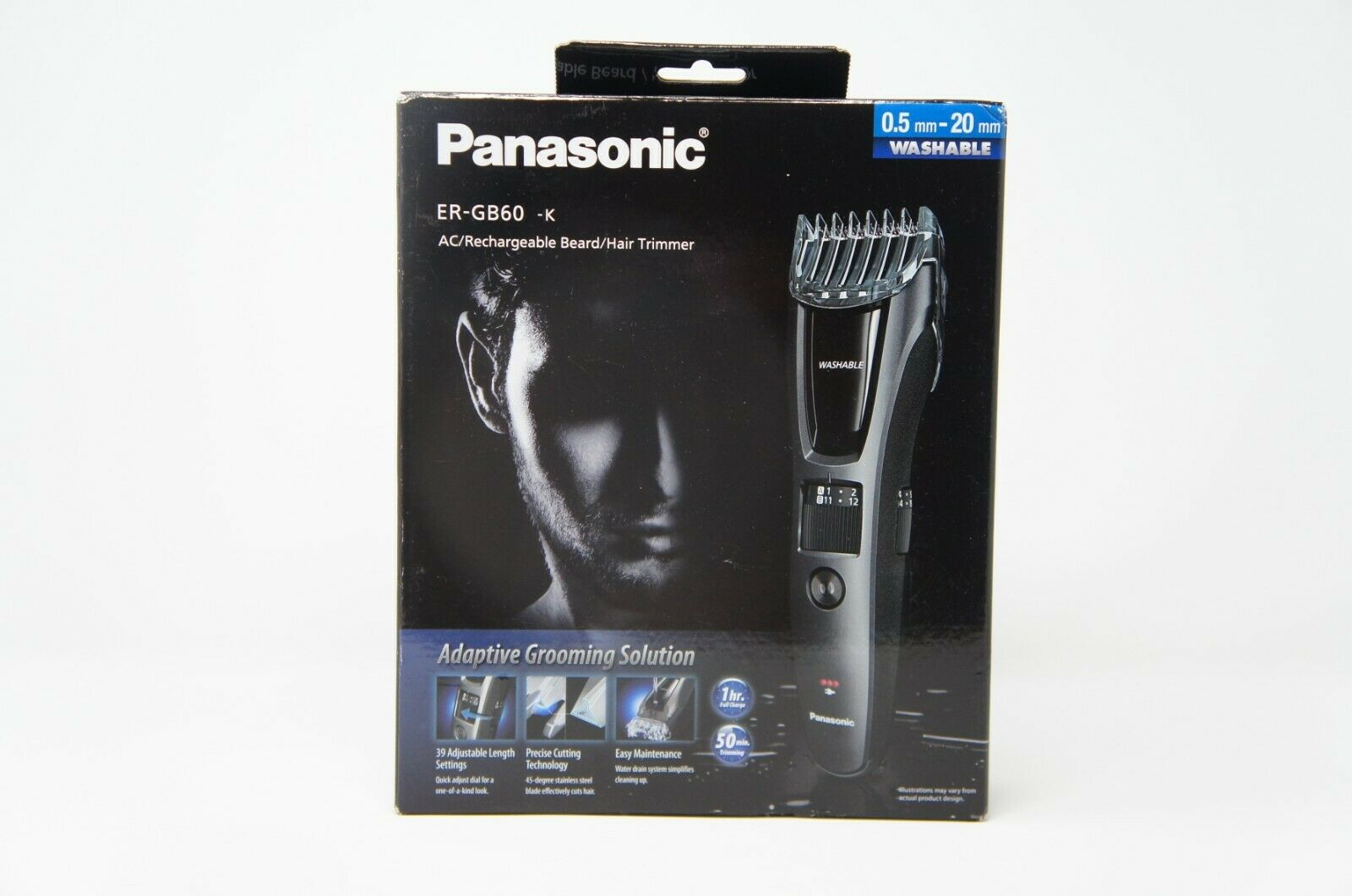 Panasonic ER-GB60K Cordless/Corded Hair and Beard Trimmer