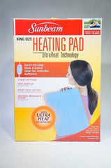 "Sunbeam 732-500 King-Size 12"" x 24"" Electric Heating Pad Light Blue (LIKE NEW)"