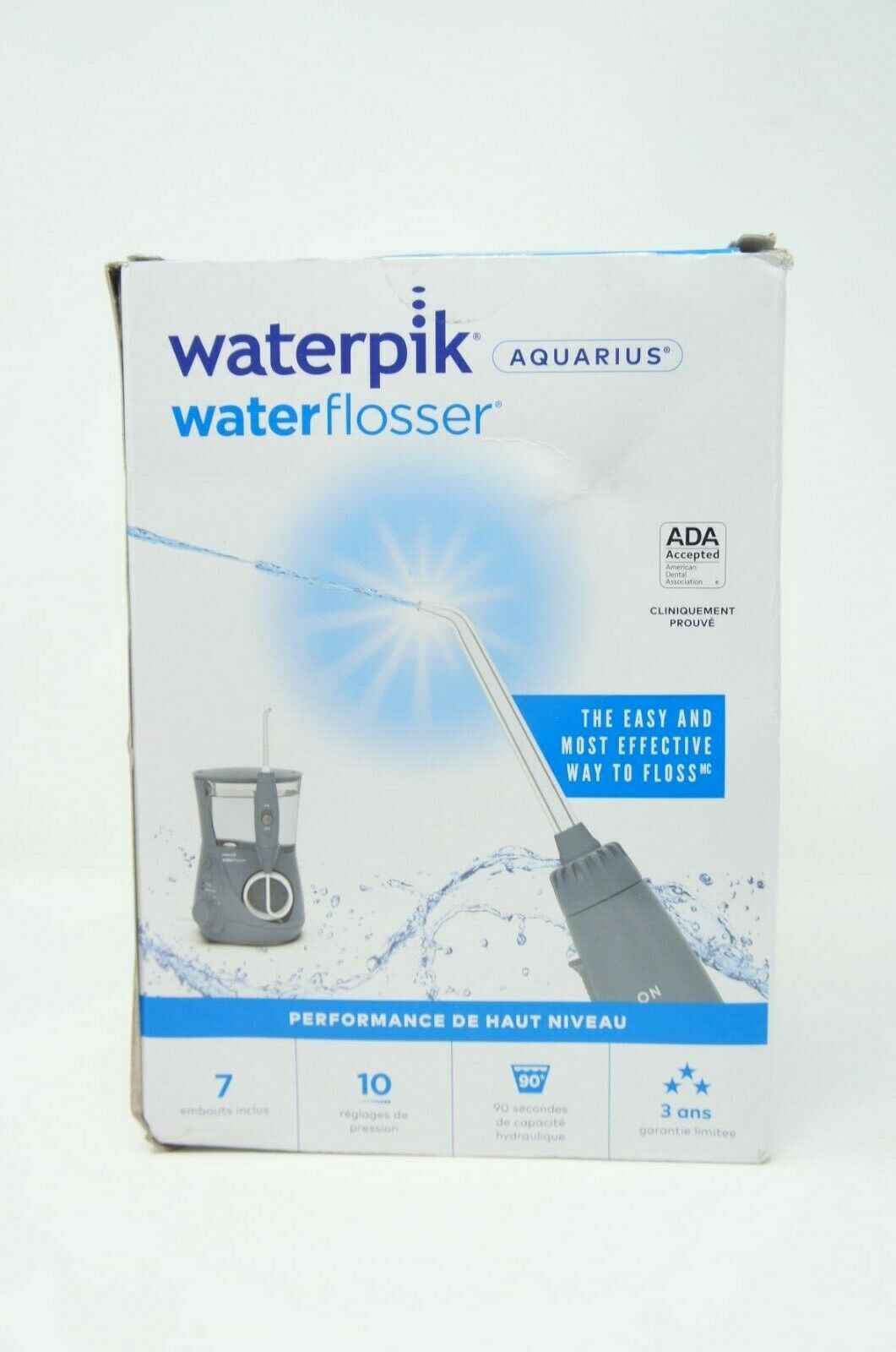 Waterpik WP-667CD Aquarius Professional Water Flosser W/10 Settings GRAY
