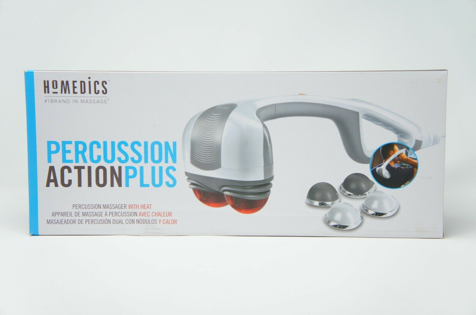 HoMedics HHP-350B Percussion Action Massager with Heat Adjustable Intensity (Like New)
