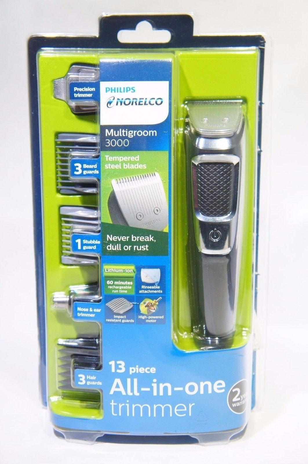 Philips Norelco Mg3750 Multigroom Series 3000 13 Attachments Lb 15 Thelowex