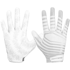 Cutters S252 REV 3.0 Receiver Gloves C-Tack Football Lightweight Pair White