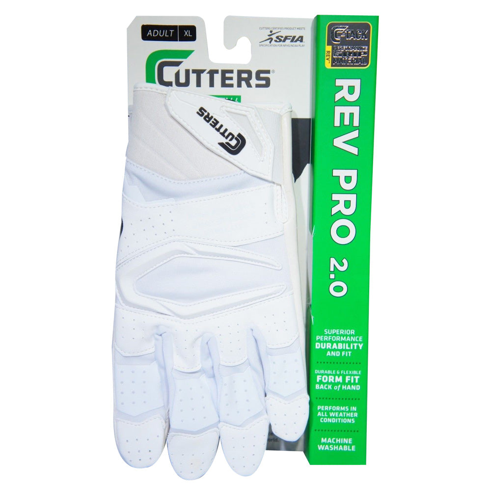 Cutters S451 Rev Pro 2.0 Football Receiver Gloves Adult Large Royal Blue White
