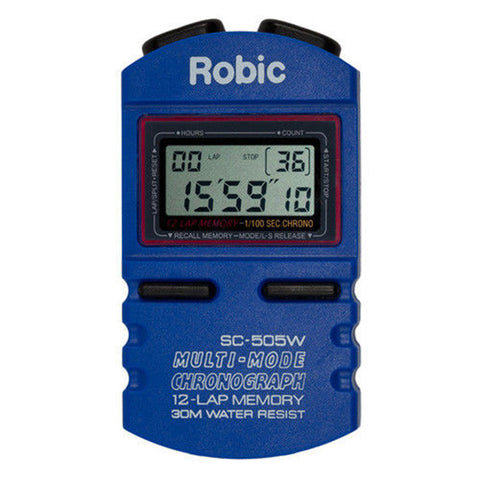 Robic SC-505W 12 Memory Chronograph Stopwatch Lap Swimming Timer