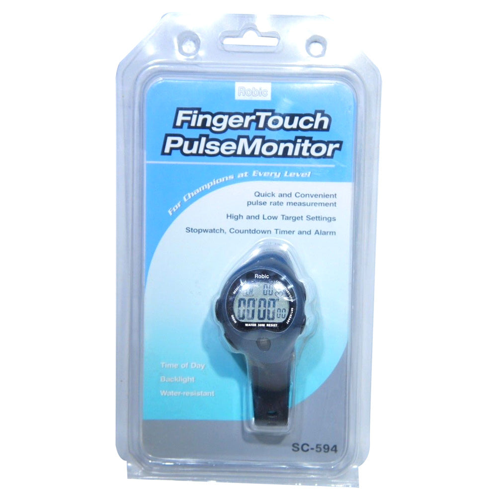 Robic SC-594 Wrist Finger Touch Pulse Rate Monitor Alarm CountDown Timer Watch