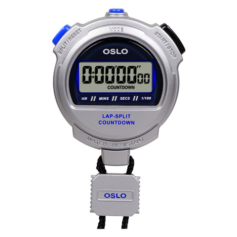 Oslo By Robic Silver 2.0 Twin Stopwatch & Countdown Timer Lap Event Split Timing