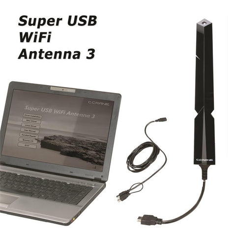 C Crane Super USB WiFi Antenna 3 – High Power Long Range 802.11 B G N Wireless