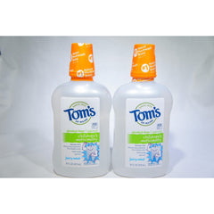 Tom's of Maine Children's Anticavity Fluoride Rinse, Juicy Mint 16 oz (Pack of 2)