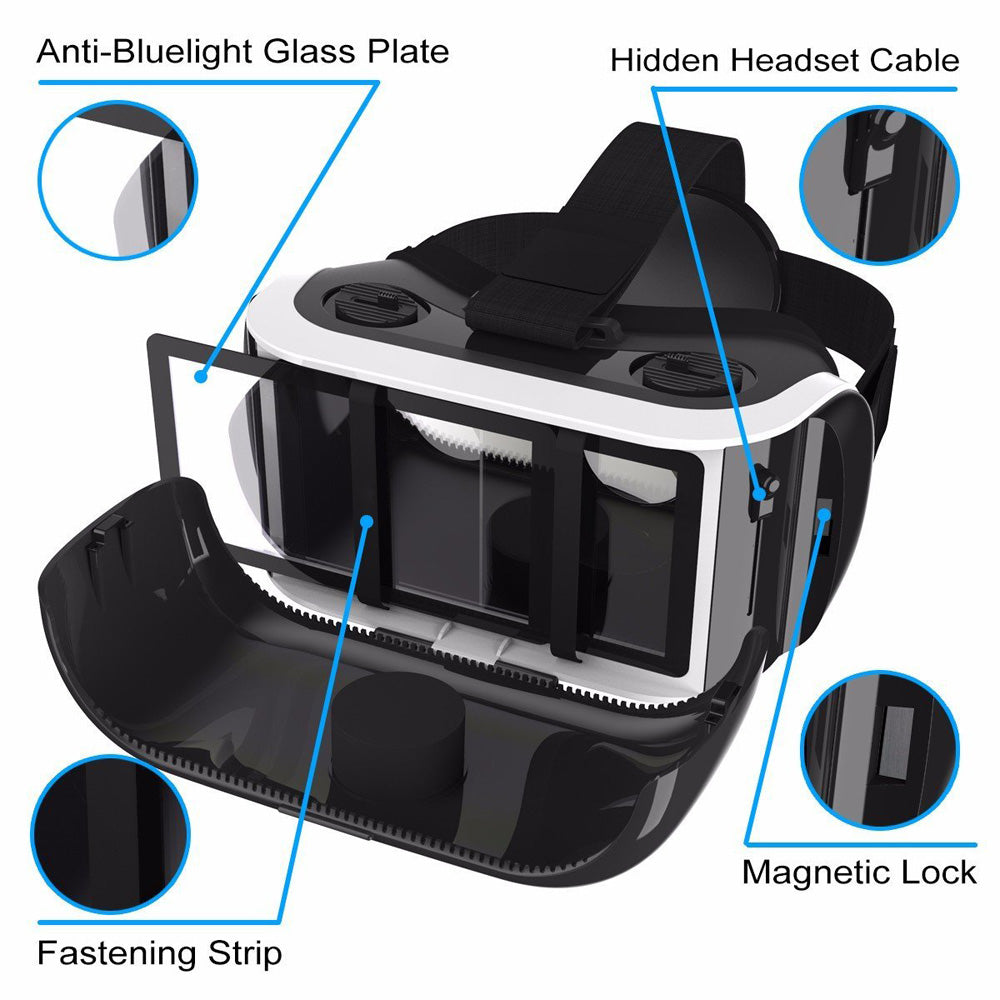 SIDARDOE 3D VR Goggles Virtual Reality Headset for iPhone 6 6s Plus