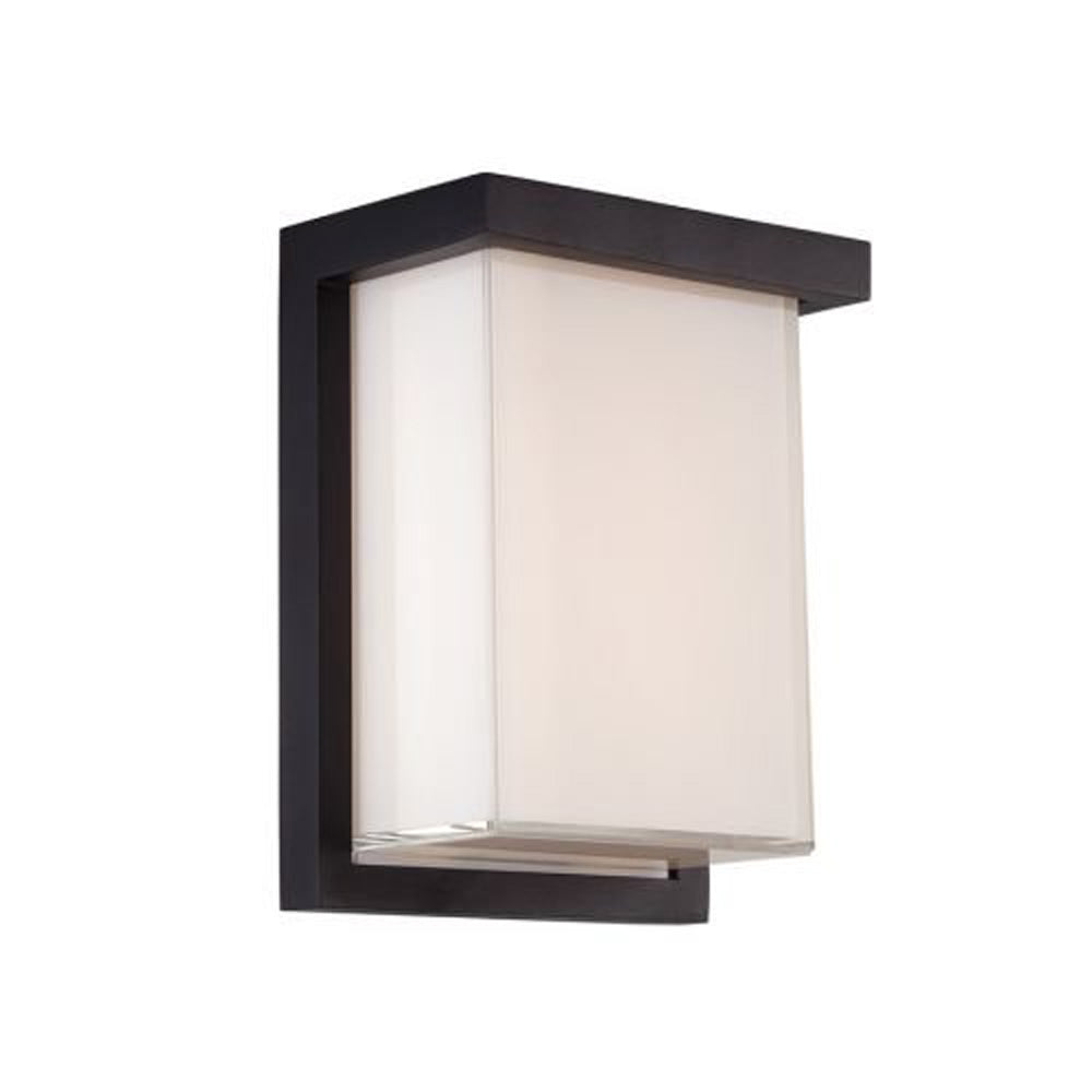 "Modern Forms WS-W1408 Ledge 8"" Indoor / Outdoor Dimmable LED ADA Compliant Wall, Black"