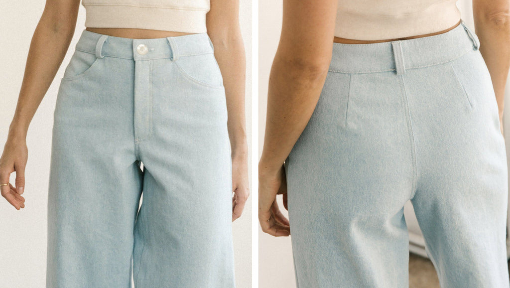 harly jae - Pierrot Pants - Light Denim