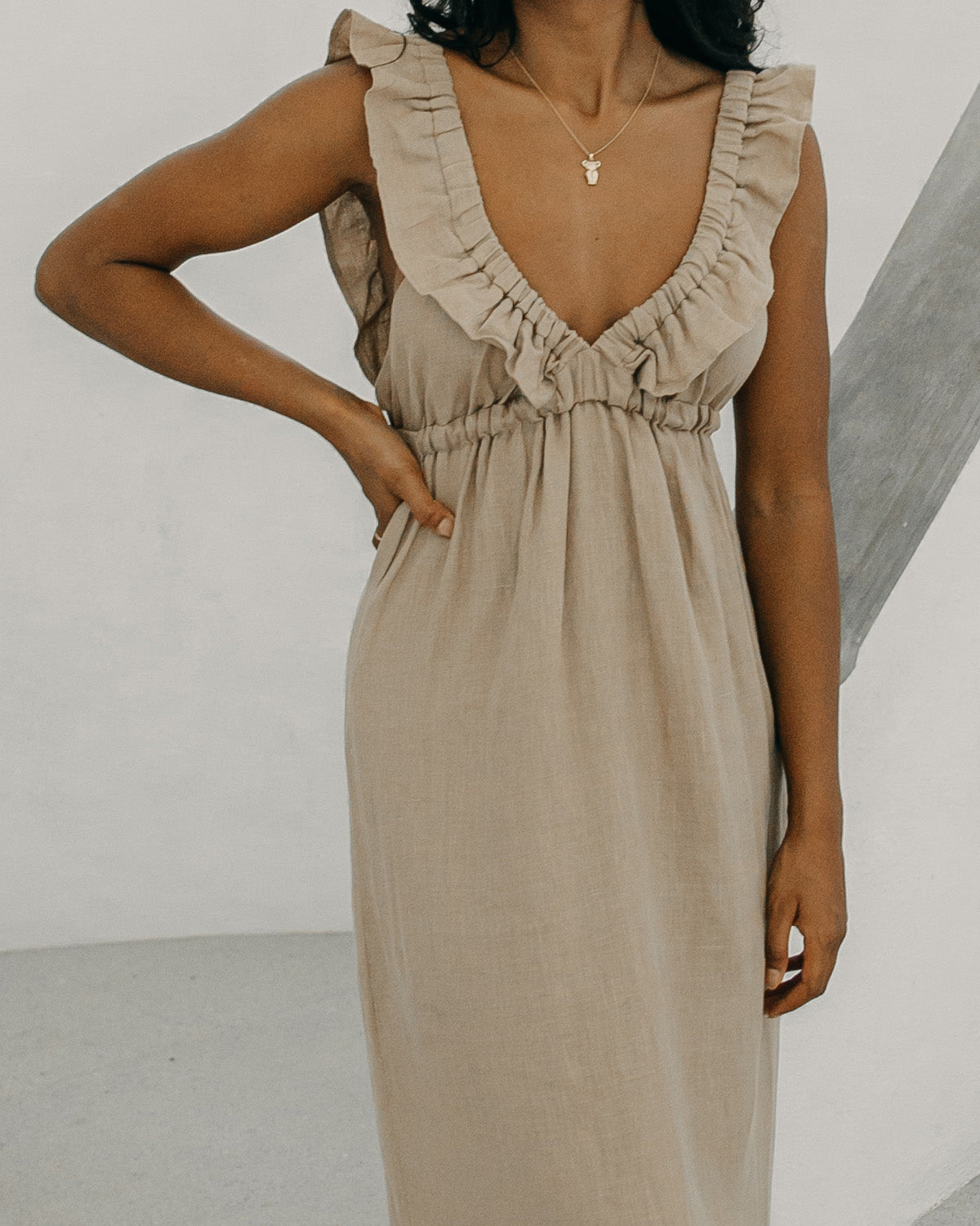 Milos dress - Taupe