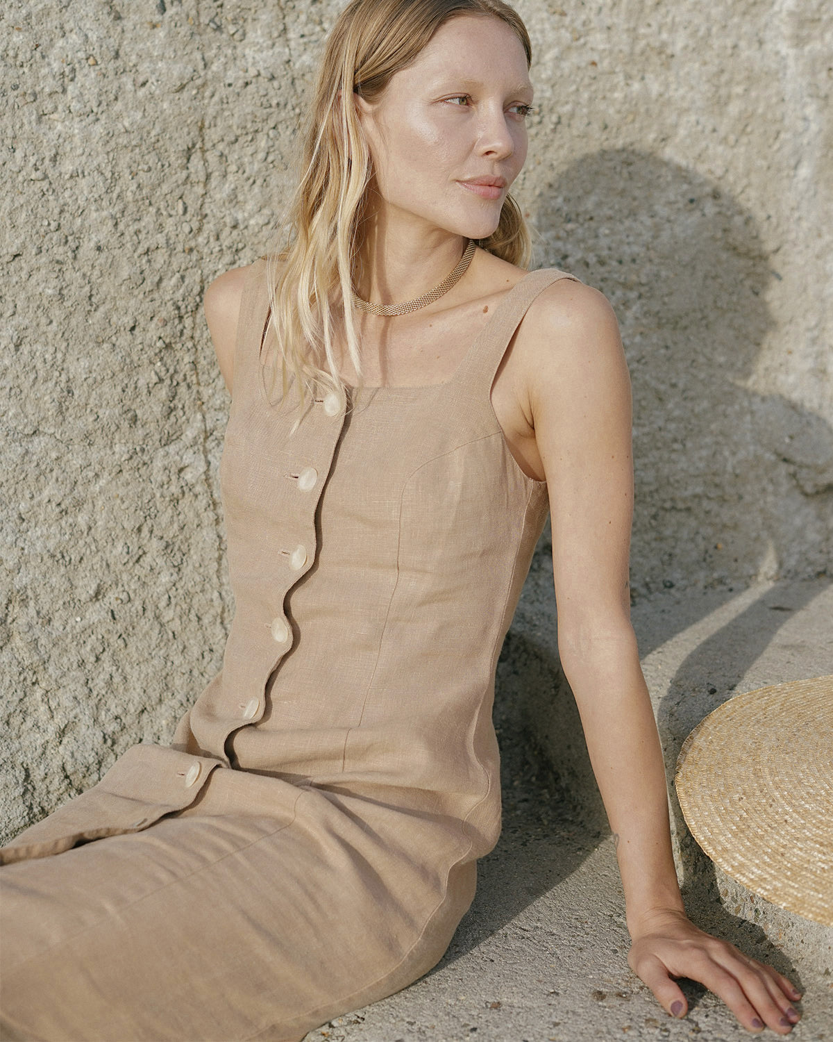 Last Chance - Provence dress - Taupe - M