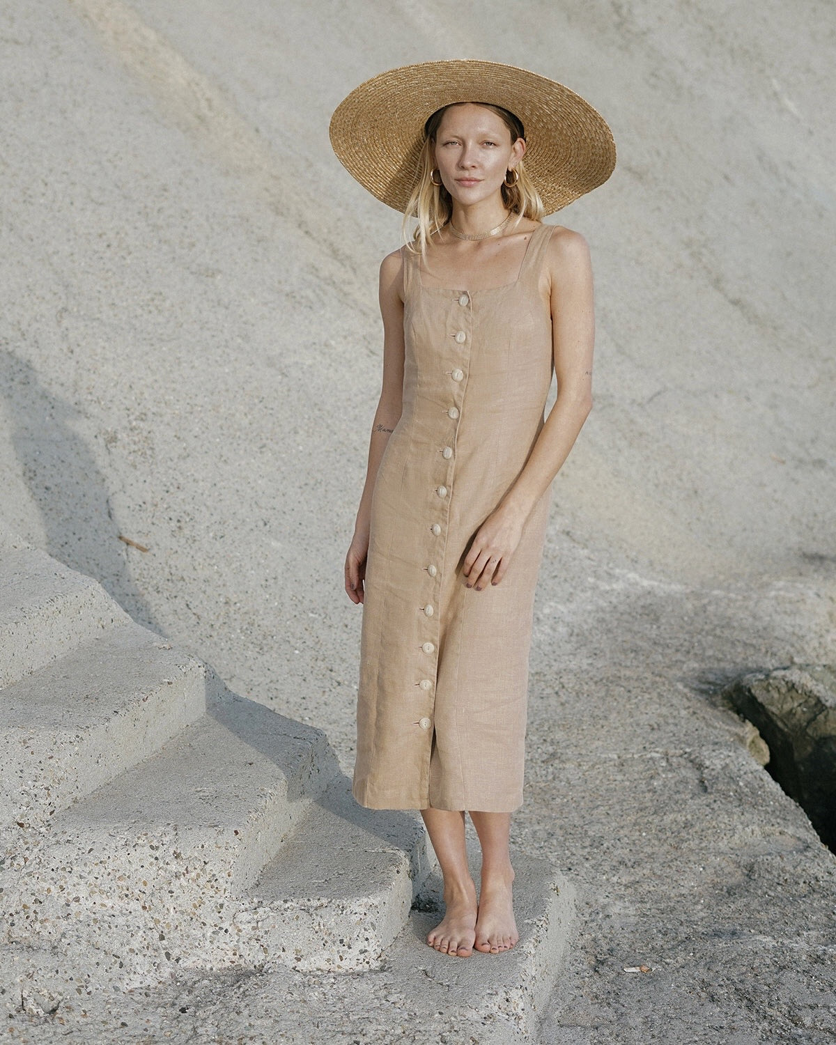 Provence dress - Taupe - M