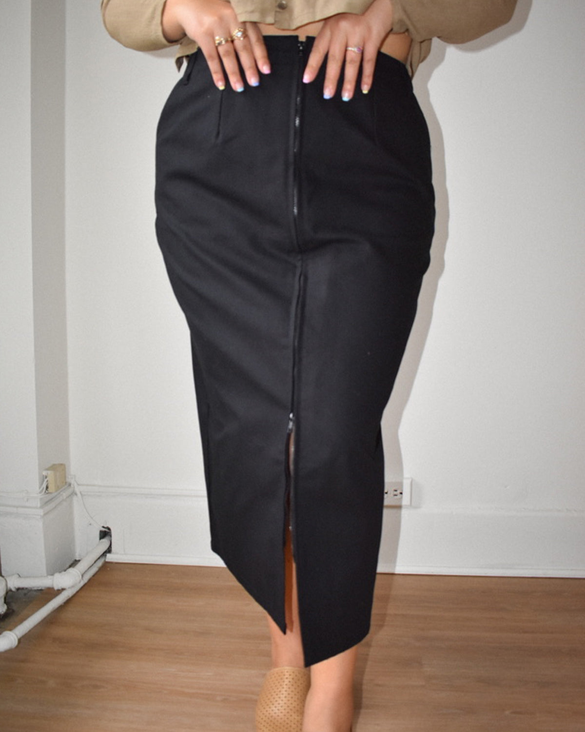 Zipper Skirt - Black