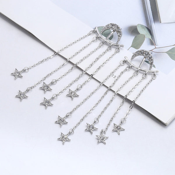 Shooting star Rhinestone Long Earrings