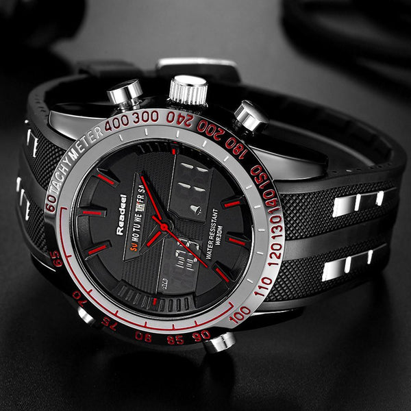 Men Sports Watches Waterproof LED Digital Quartz/ Military Wrist Watch