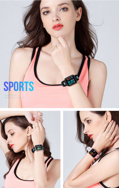 Sports IP68 Smart Watch P68 fitness bracelet  for ios Android apple iPhone 6- 7