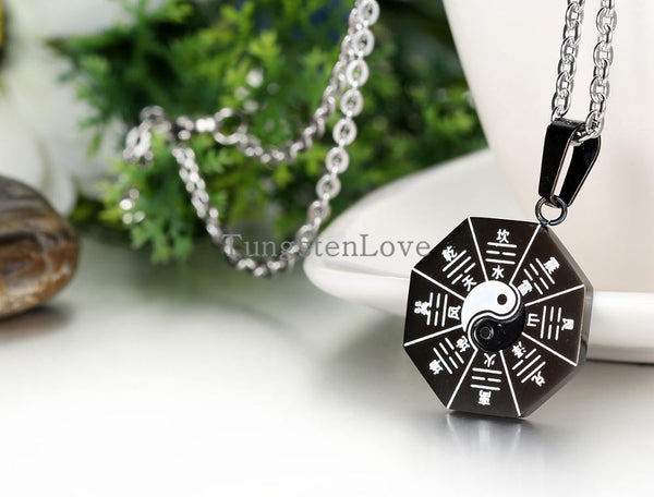 Chinese Mystical Yin Yang Pendant stainless steel necklaces